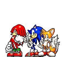 Knuckles,Sonic & Tails Photographic Print