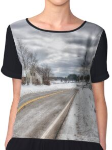 All Roads Lead To Where We Go Chiffon Top