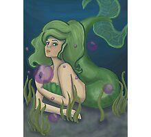 Green Mermaid Photographic Print