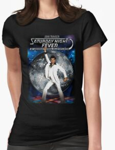 Disco A go go Womens Fitted T-Shirt