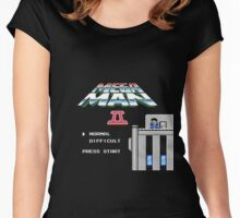 Megaman 2 - He's up on the effin' roof Women's Fitted Scoop T-Shirt