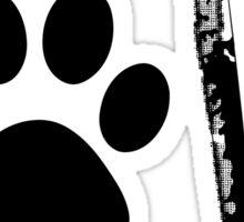 Love with Paw Print Sticker