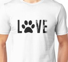 Love with Paw Print Unisex T-Shirt