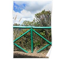 Green Wooden Fence Poster