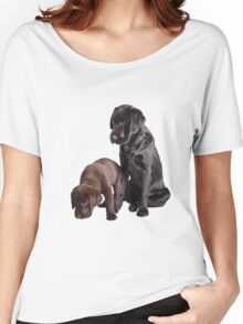 two labrador retriever puppies Women's Relaxed Fit T-Shirt