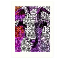 Goat - Pinky - Stone Rock'd Art By Sharon Cummings Art Print