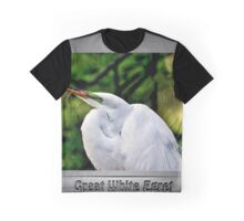 Great White Egret Graphic T-Shirt
