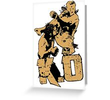 fighter deadly punch KO Greeting Card