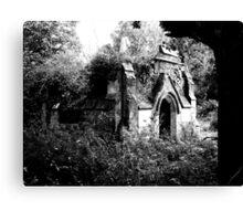 Gothic derelict tomb Canvas Print