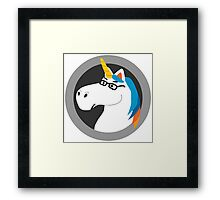 Geekicorn Geek Unicorn With Glasses Framed Print