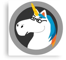 Geekicorn Geek Unicorn With Glasses Canvas Print