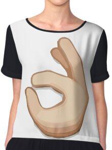 Ok Hand Sign Emoji Chiffon Top