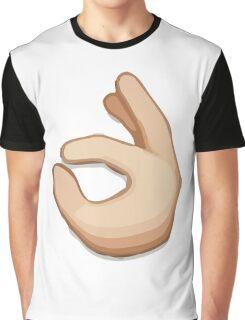 Ok Hand Sign Emoji Graphic T-Shirt