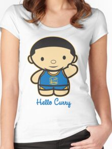 HELLO CURRY Women's Fitted Scoop T-Shirt