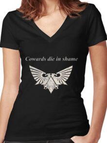 Wh40k Gold Eagle Women's Fitted V-Neck T-Shirt