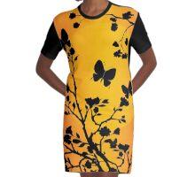 Butterfly sunset Graphic T-Shirt Dress