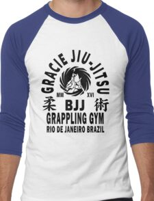 Gracie Jiu Jitsu Men's Baseball ¾ T-Shirt