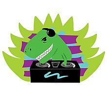 T-Rex Dinosaur DJ Photographic Print