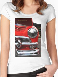 Old car headlight 2 Women's Fitted Scoop T-Shirt