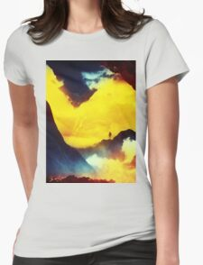 This volcano is mine Womens Fitted T-Shirt