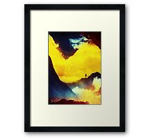 This volcano is mine Framed Print