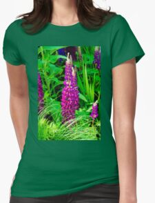 Purple Lupine Flower Womens Fitted T-Shirt