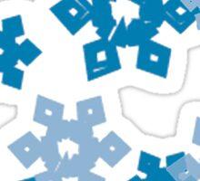 Blue Snowflakes Sticker