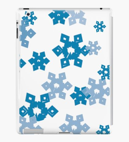 Blue Snowflakes iPad Case/Skin