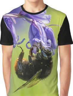 Beautiful Bumblebee Ft Spring Bluebells Graphic T-Shirt