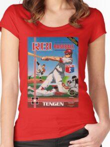 Nintendo RBI Baseball Women's Fitted Scoop T-Shirt