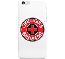 LIFEGUARD SAN DIEGO SURFING CALIFORNIA SURFER BEACH SURFBOARD iPhone Case/Skin
