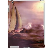 Racing the storm to safety iPad Case/Skin