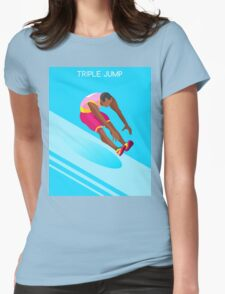 Athletics Jump 2016 Summer Games  Womens Fitted T-Shirt