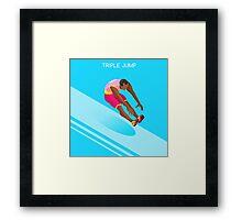 Athletics Jump 2016 Summer Games  Framed Print