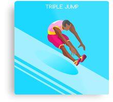 Athletics Jump 2016 Summer Games  Metal Print