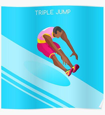 Athletics Jump 2016 Summer Games  Poster