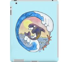 Playful Orca Watercolor iPad Case/Skin
