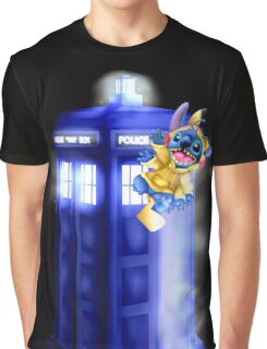 Doctor Stitch + Pikacchu  Graphic T-Shirt
