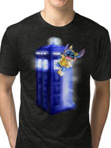 Doctor Stitch + Pikacchu  Tri-blend T-Shirt
