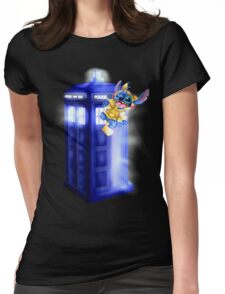 Doctor Stitch + Pikacchu  Womens Fitted T-Shirt