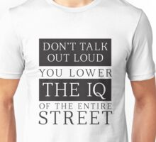Don't Talk Out Loud Sherlock Holmes Design Unisex T-Shirt