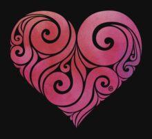 Swirly Heart Kids Tee