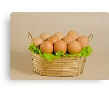 Basket with the eggs Canvas Print