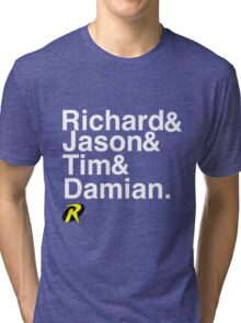 Richard & Jason & Tim & Damian. Robin T-shirt and more  Tri-blend T-Shirt