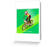 Cycling BMX 2016 Olympics Summer Games  Greeting Card