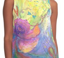 I Love To Loose Myself In You Watercolor Painting Contrast Tank