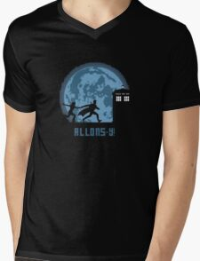 "Doctor Who ""Allons-y"" 10th Doctor Mens V-Neck T-Shirt"