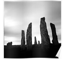Callanish Standing Stones, Lewis, Scotland - black and white, long exposure Poster