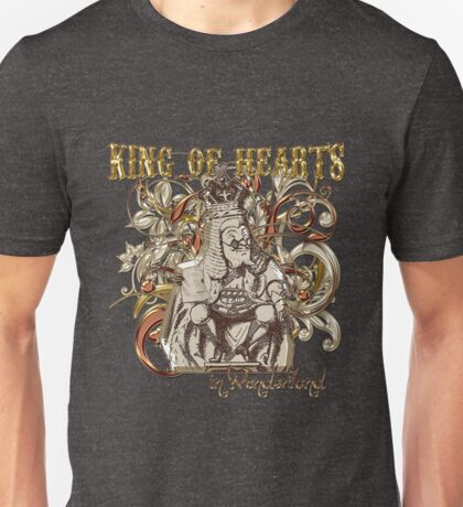 Alice In Wonderland King of Hearts Carnivale Style Unisex T-Shirt