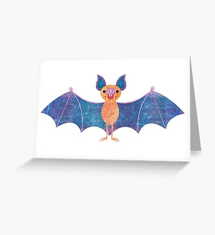 V is for Vampire Bat Greeting Card